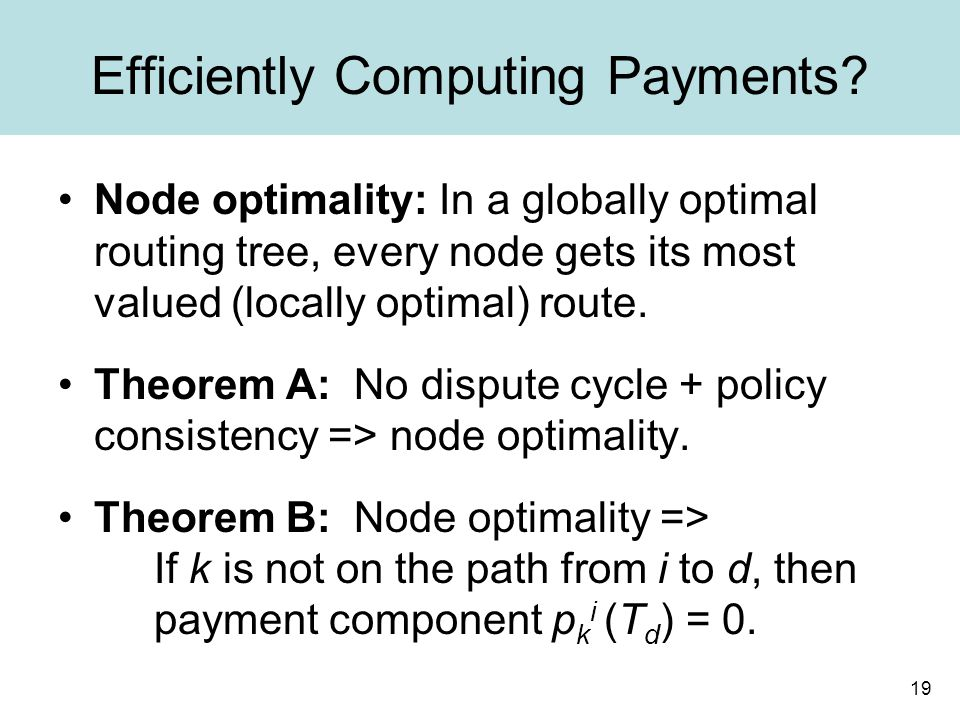 19 Efficiently Computing Payments.