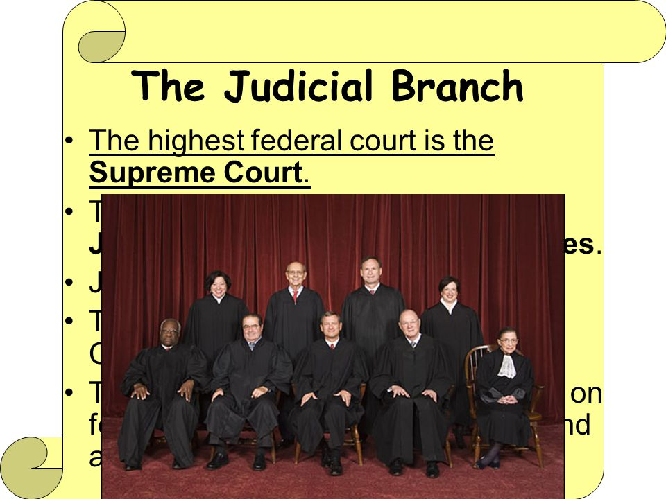 The highest federal court is the Supreme Court.