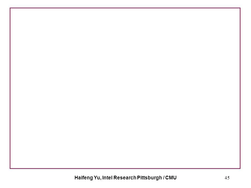 Haifeng Yu, Intel Research Pittsburgh / CMU45