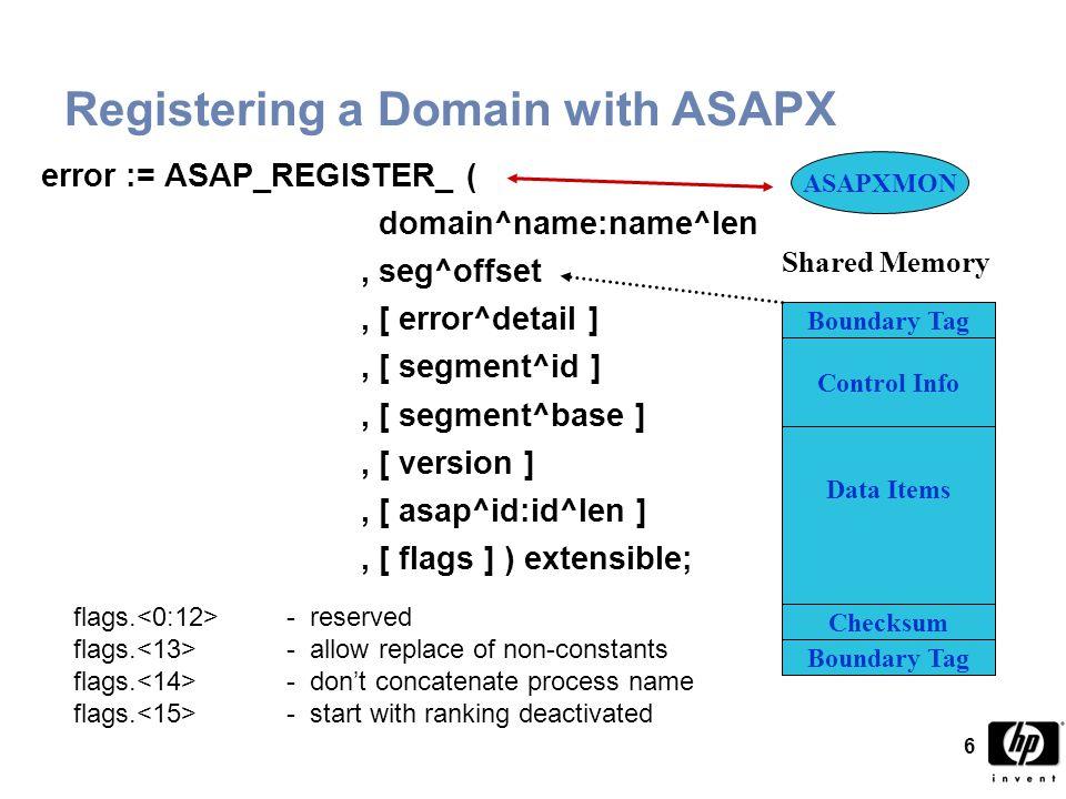 37 ASAPX SET Commands  SET OBJECT [ ASAPXMON ] filename –Defines ASAPXMON object file –SET OBJECT $ALYSTS.SYSTEM.ASAPXMON –SET OBJECT $SYSTEM.SYSTEM.ASAPXMON (default)  SET PRIORITY priority –Defines ASAPXMON priority (default is 150)  SET SWAPVOLS cpu-range subvol [, … ] –SET SWAPVOLS 0-4 $DATA.SWAP, 5 $DATA2.SWAP –SET SWAPVOLS 0-15 $SYSTEM.ZASAPX (default)  SET TEST ON –SET TEST ON