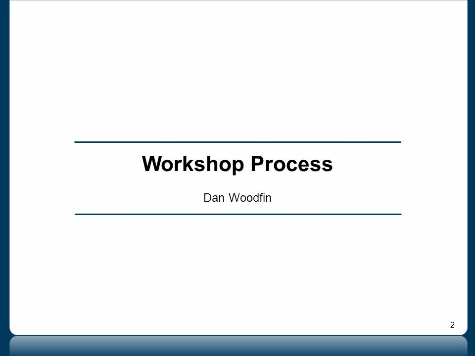 2 Workshop Process Dan Woodfin