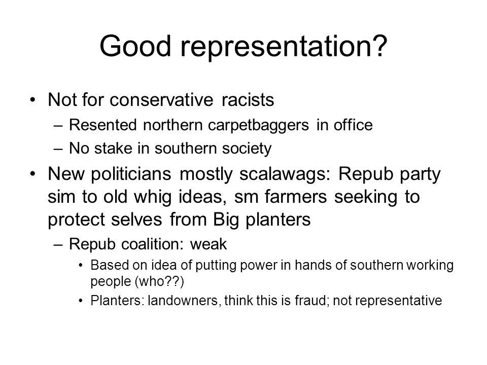 Good representation.