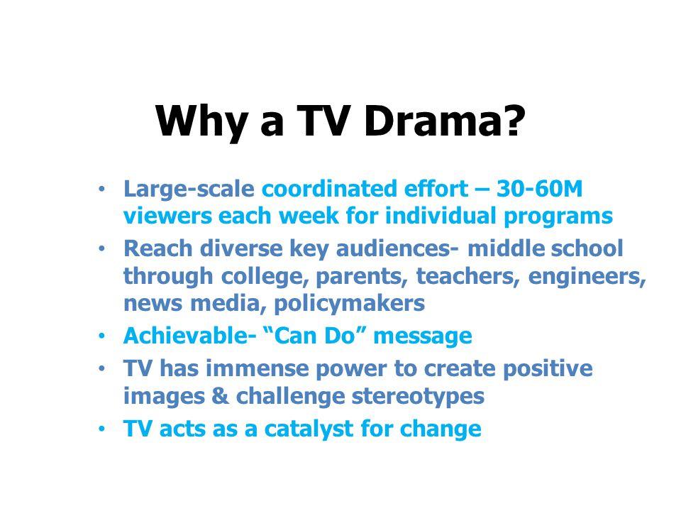 Why a TV Drama.
