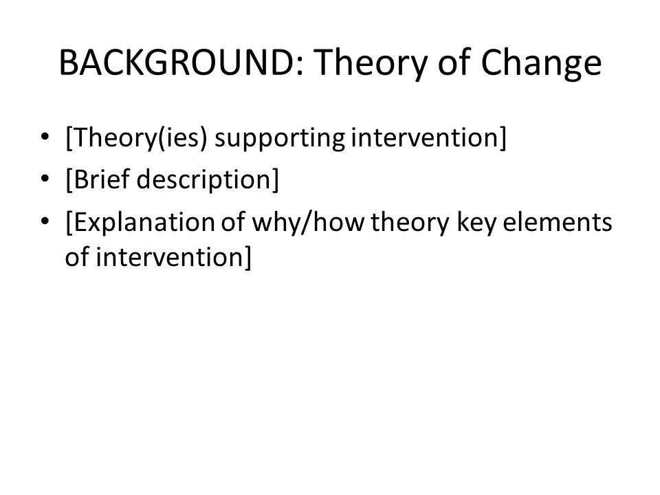 DISCUSSION: Alternative Explanations [1 st alternative explanation of observed results] [2 nd alternative explanation] [3 rd alternative explanation] - - - - - ―[Naturally occurring regression to mean , or normal, after time of crisis, episode, etc.] ―[Invalid, possibly over simplistic, measures] ―[Insufficient time and/or intensity of intervention to observe change within 10-week eval period] ―[Insufficient or unavail.