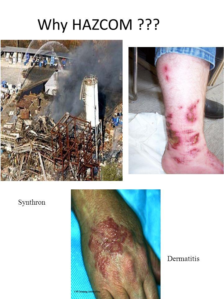 Why HAZCOM Synthron Dermatitis
