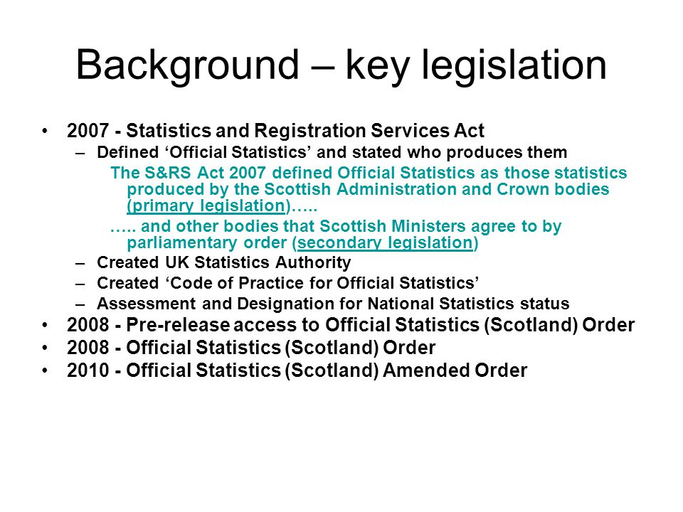 The role of the UK Statistics Authority Neil Jackson Official Statistics - New Producers' Seminar 24 February 2011