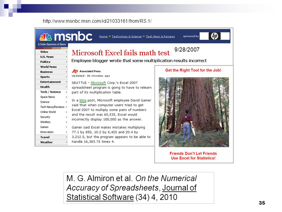 35 9/28/2007 http://www.msnbc.msn.com/id/21033161/from/RS.1/ M.