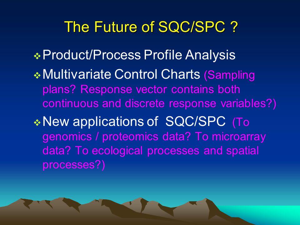 The Future of SQC/SPC .