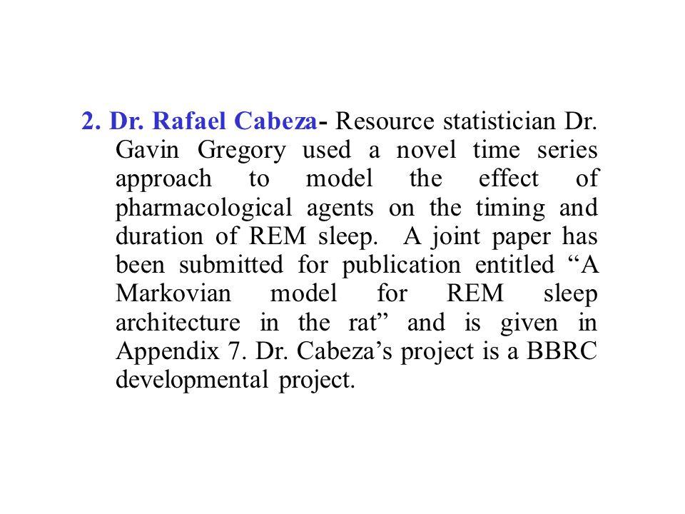 2. Dr. Rafael Cabeza- Resource statistician Dr.