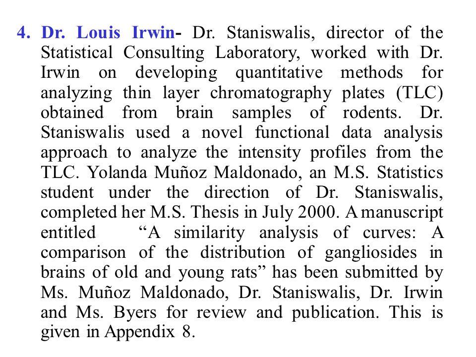 4. Dr. Louis Irwin- Dr.