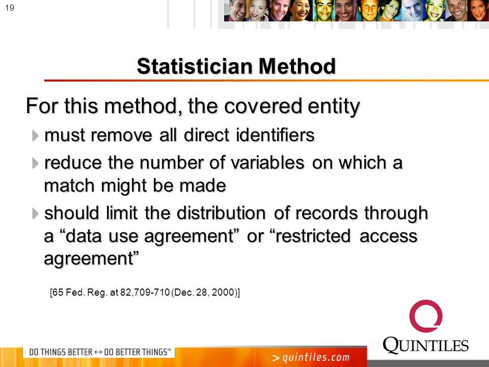 Statistician Method