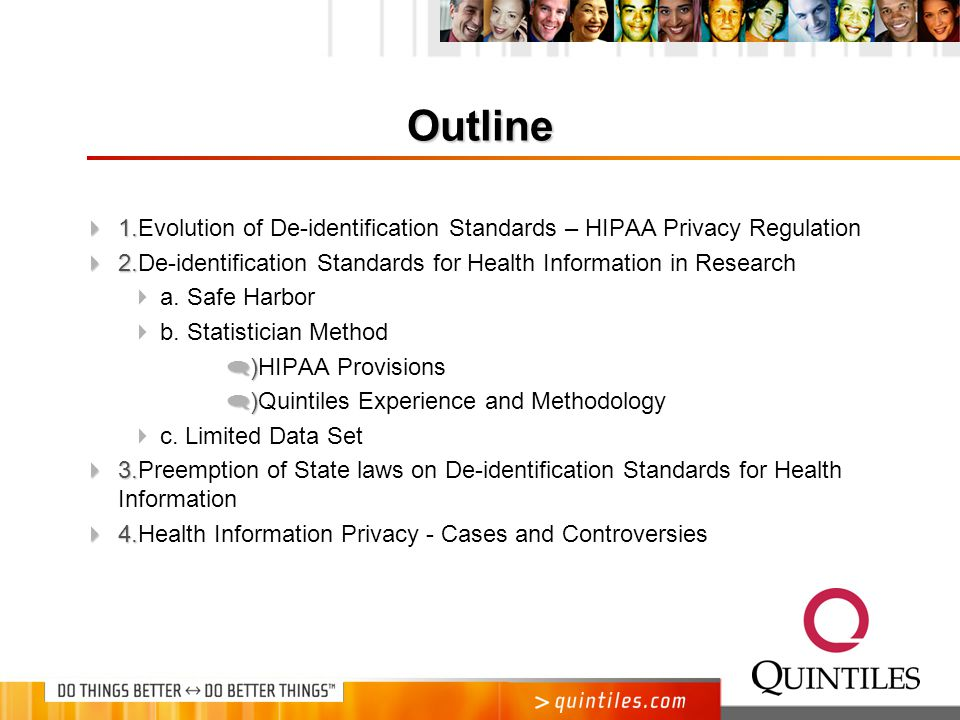 Health Care Databases under HIPAA: Statistical Approaches to De-identification of Protected Health Information Judith E.