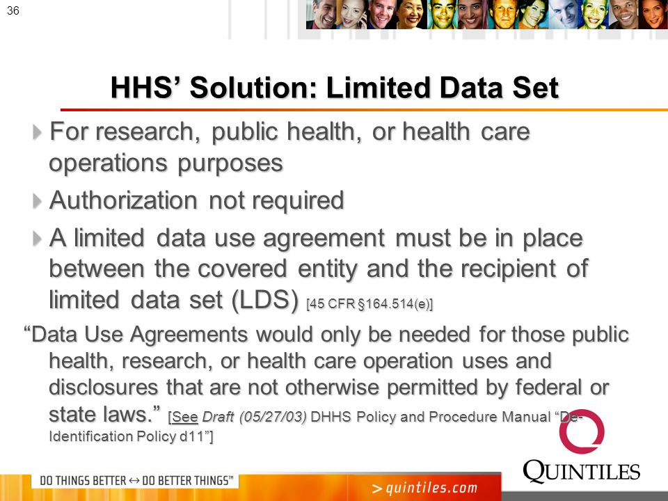 Limited Data Set (LDS)