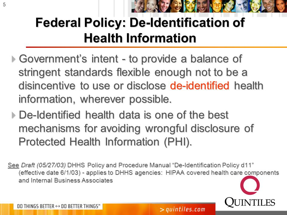 Evolution of De-Identification Standards in HIPAA Privacy Regulation