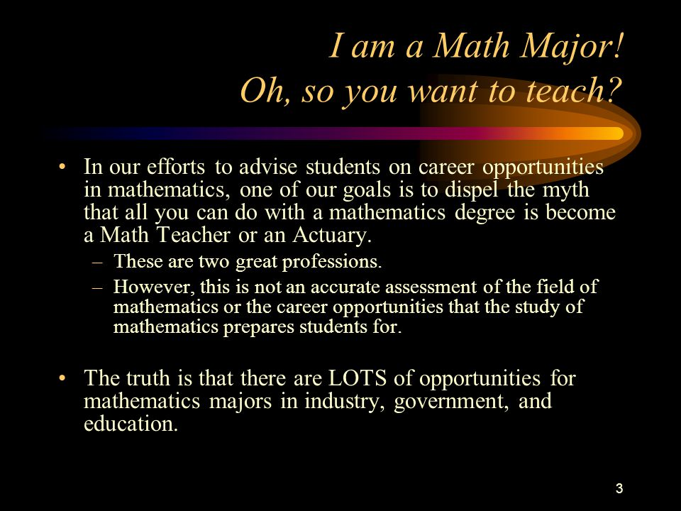 Million-Dollar Question: What Can I Do With A Math Degree.