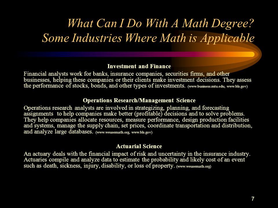 What Can I Do With A Statistics Degree.