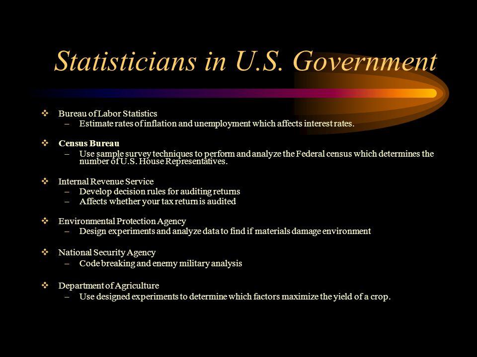 Statisticians in U.S.