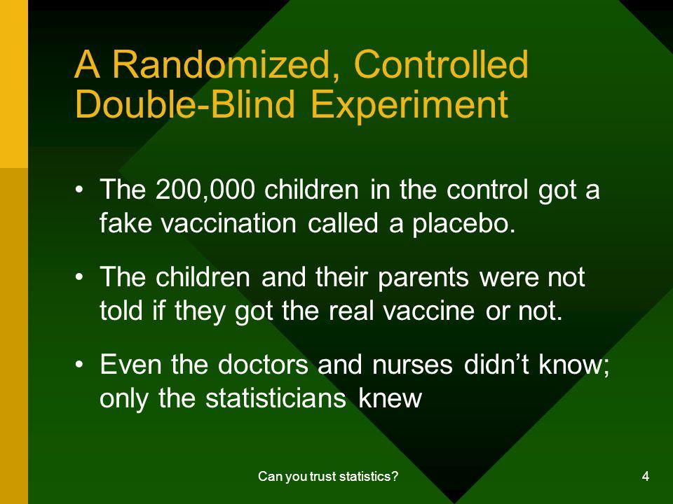 Can you trust statistics.