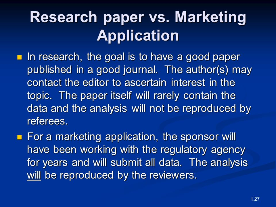 Research paper vs.