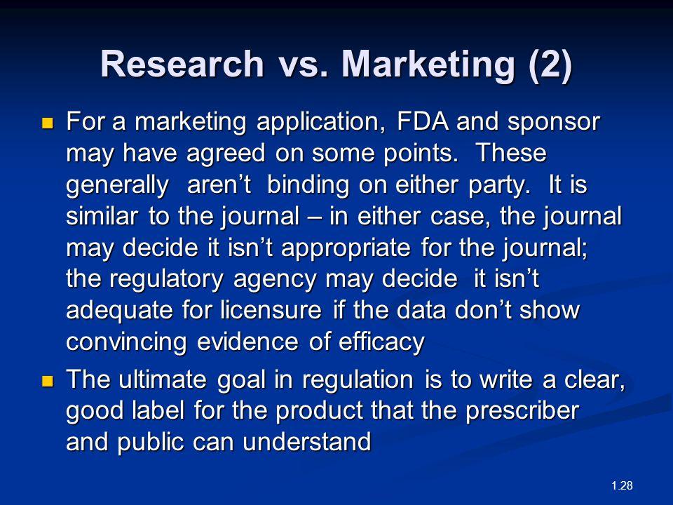 Research vs.