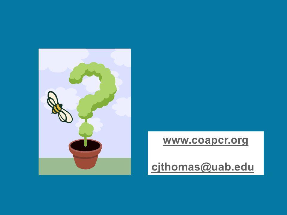 www.coapcr.org cjthomas@uab.edu