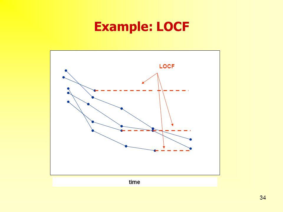34 Example: LOCF LOCF time