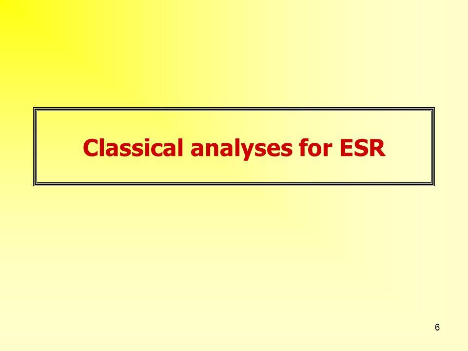 6 Classical analyses for ESR
