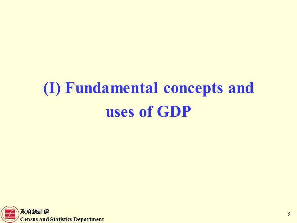 政府統計處 Census and Statistics Department 4 What is Gross Domestic Product (GDP).