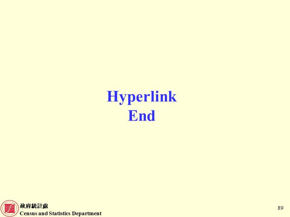 政府統計處 Census and Statistics Department 89 Hyperlink End