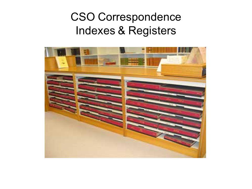 CSO Correspondence Indexes & Registers