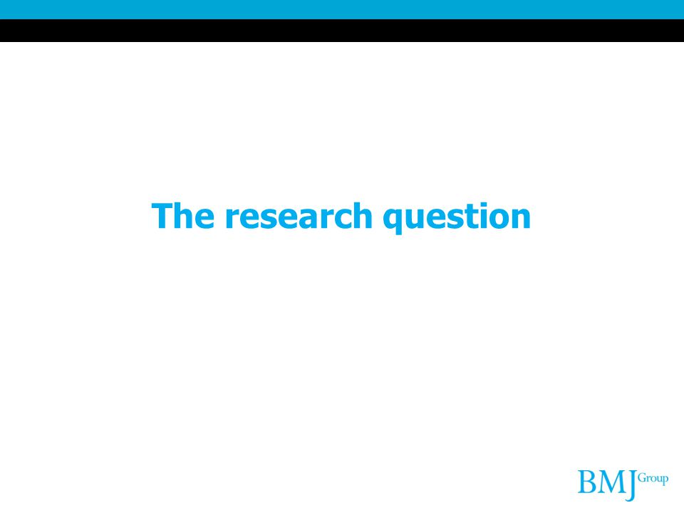 The research question