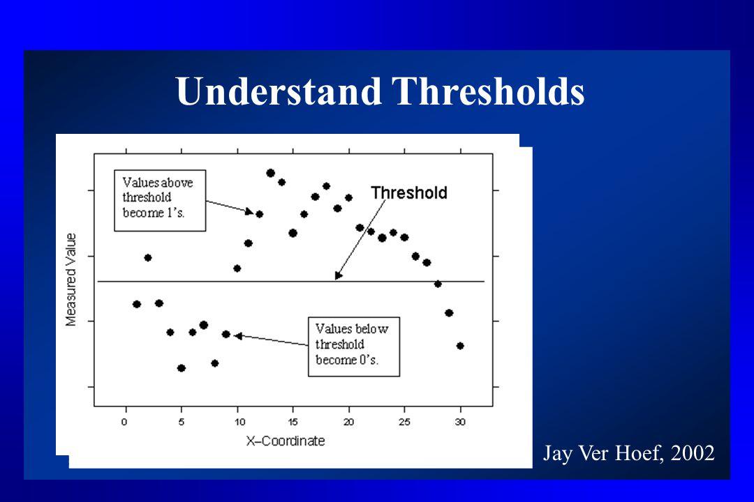 Understand Thresholds Jay Ver Hoef, 2002