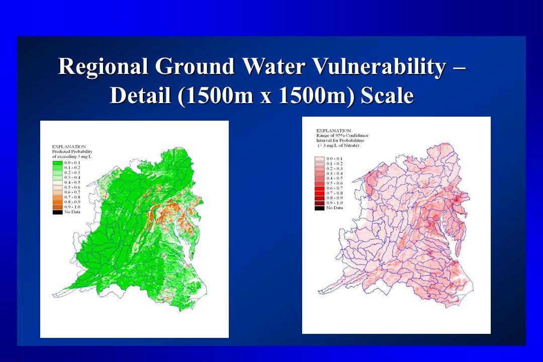 Regional Ground Water Vulnerability – Detail (1500m x 1500m) Scale