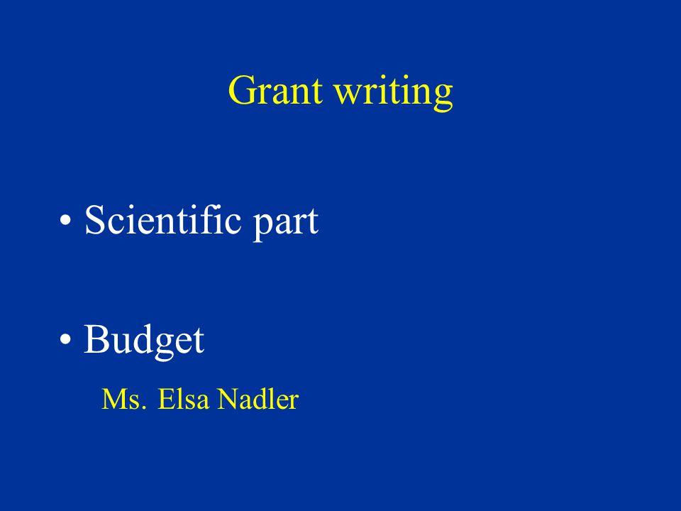 Grant sources http://grants1.nih.gov/grants/index.cfm http://cdmrp.army.mil/