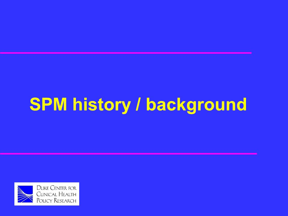 SPM history / background