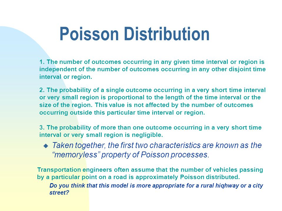Poisson Distribution 1.