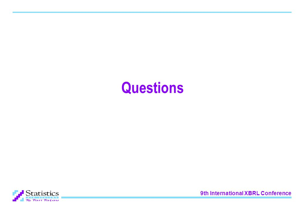 9th International XBRL Conference Questions