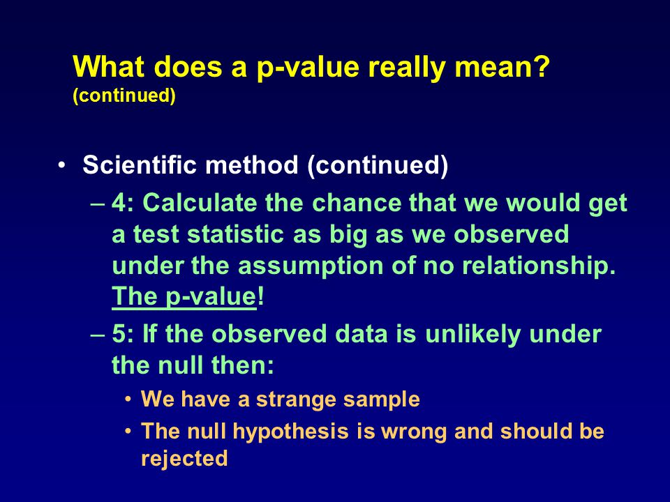 What does a p-value really mean.
