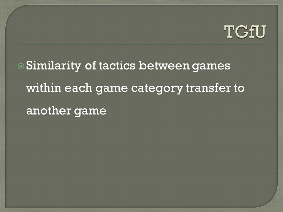  Similarity of tactics between games within each game category transfer to another game