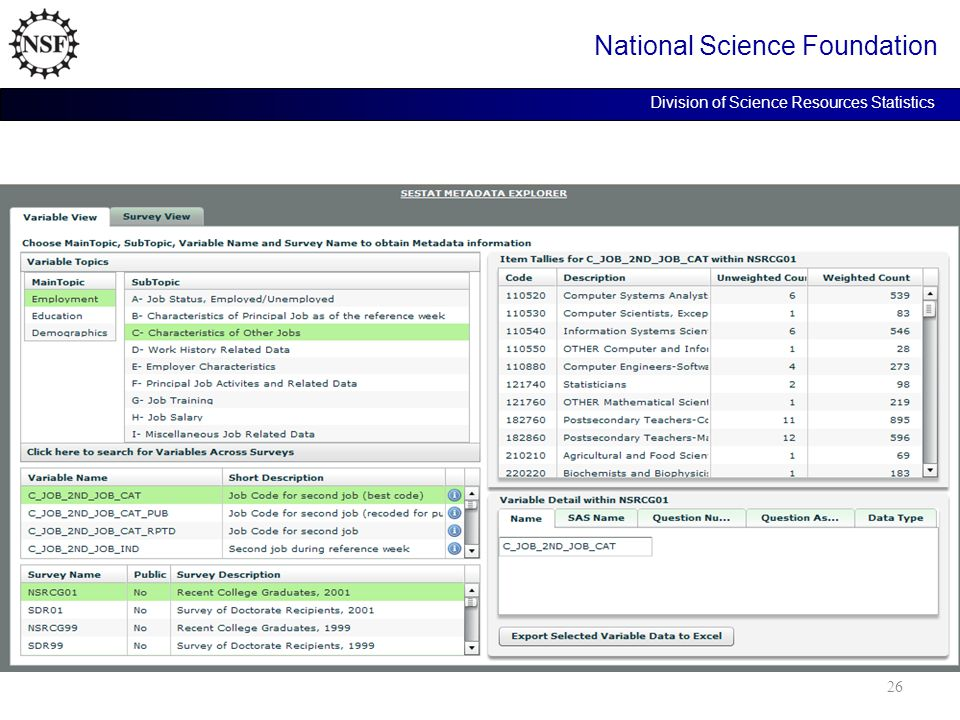 National Science Foundation Division of Science Resources Statistics 26