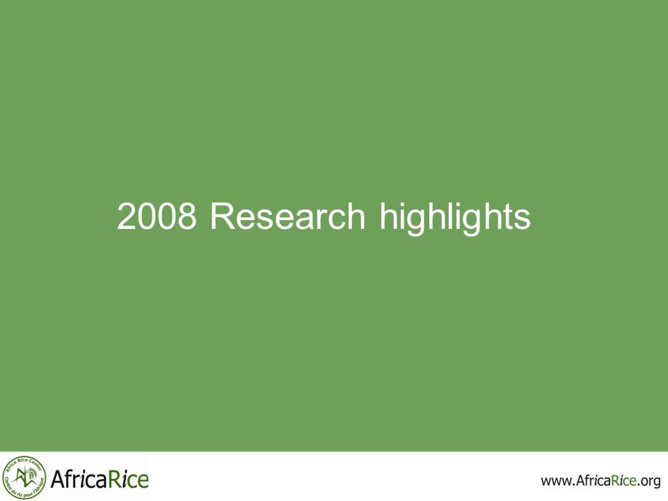 2008 Research highlights