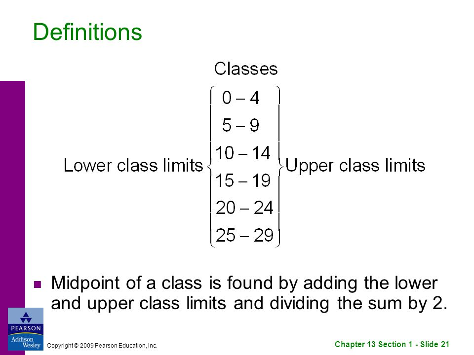 Chapter 13 Section 1 - Slide 21 Copyright © 2009 Pearson Education, Inc.