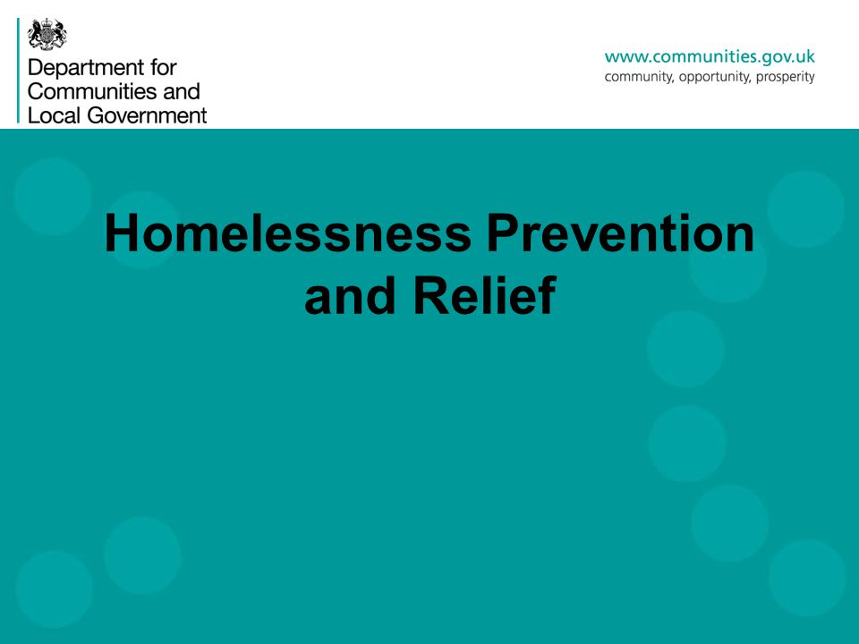 Homelessness Prevention and Relief