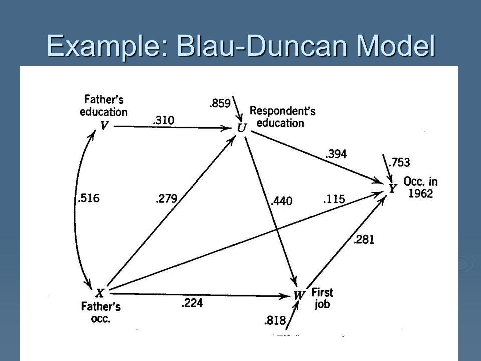 Example: Blau-Duncan Model