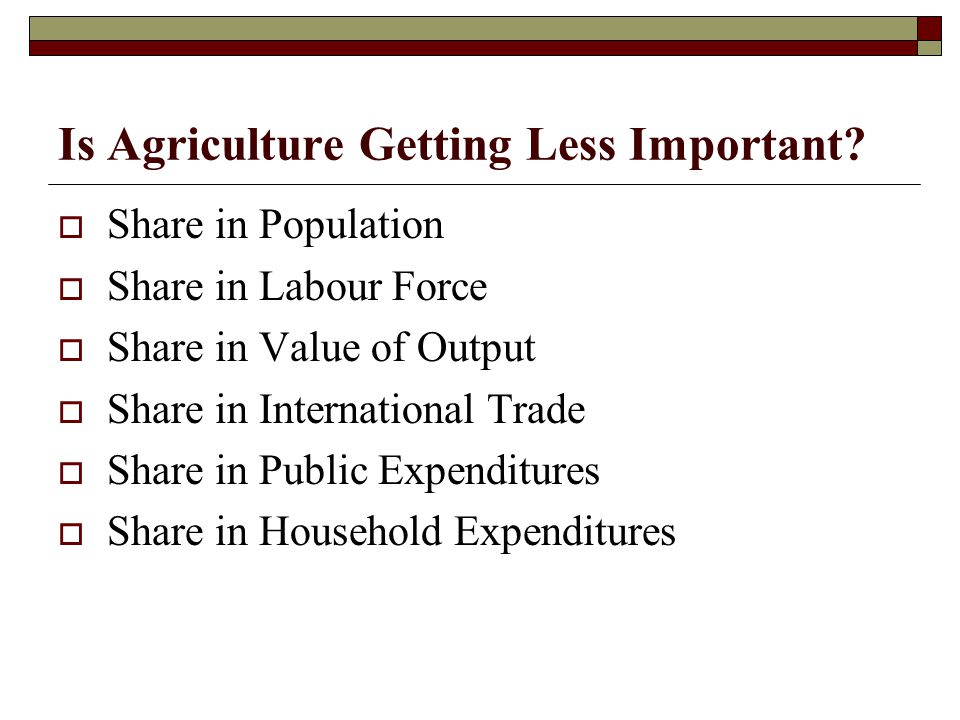Routes for Expansion  Agriculture to Rural Why Rural.