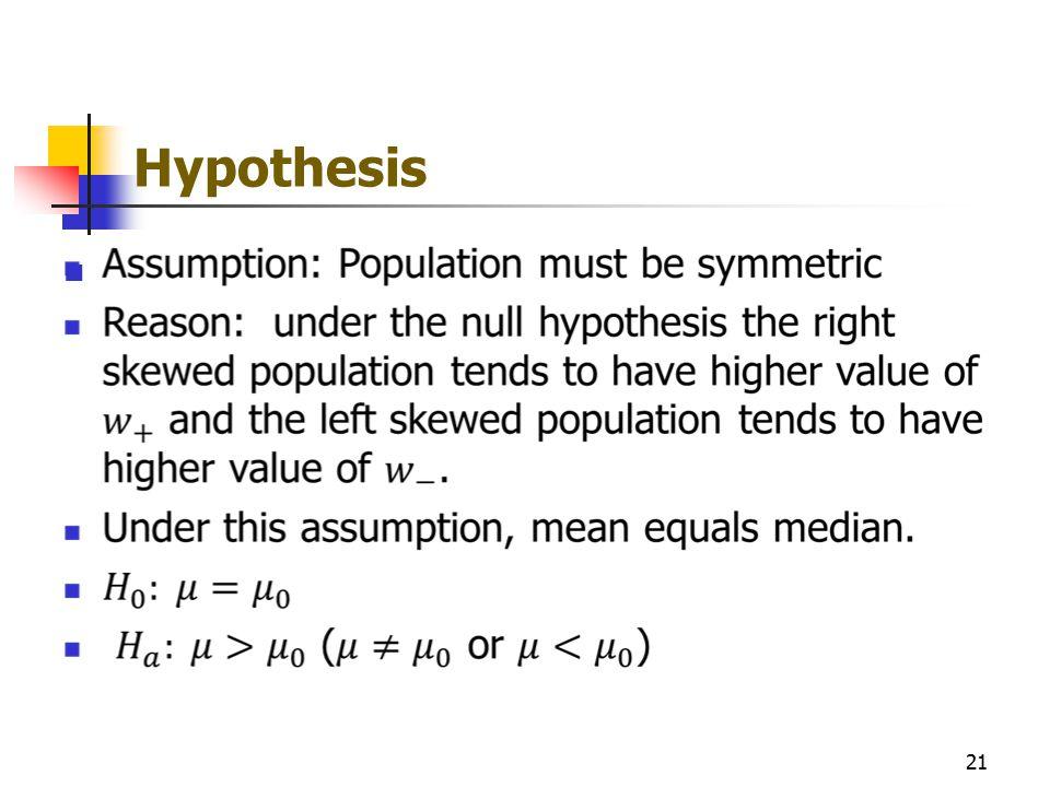 Hypothesis 21