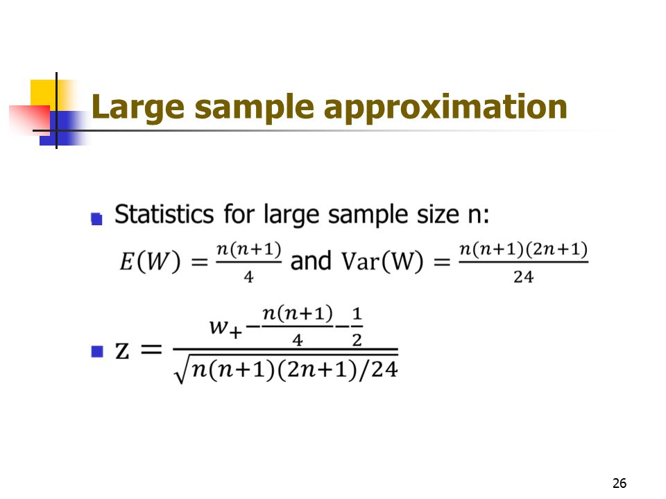 Large sample approximation 26