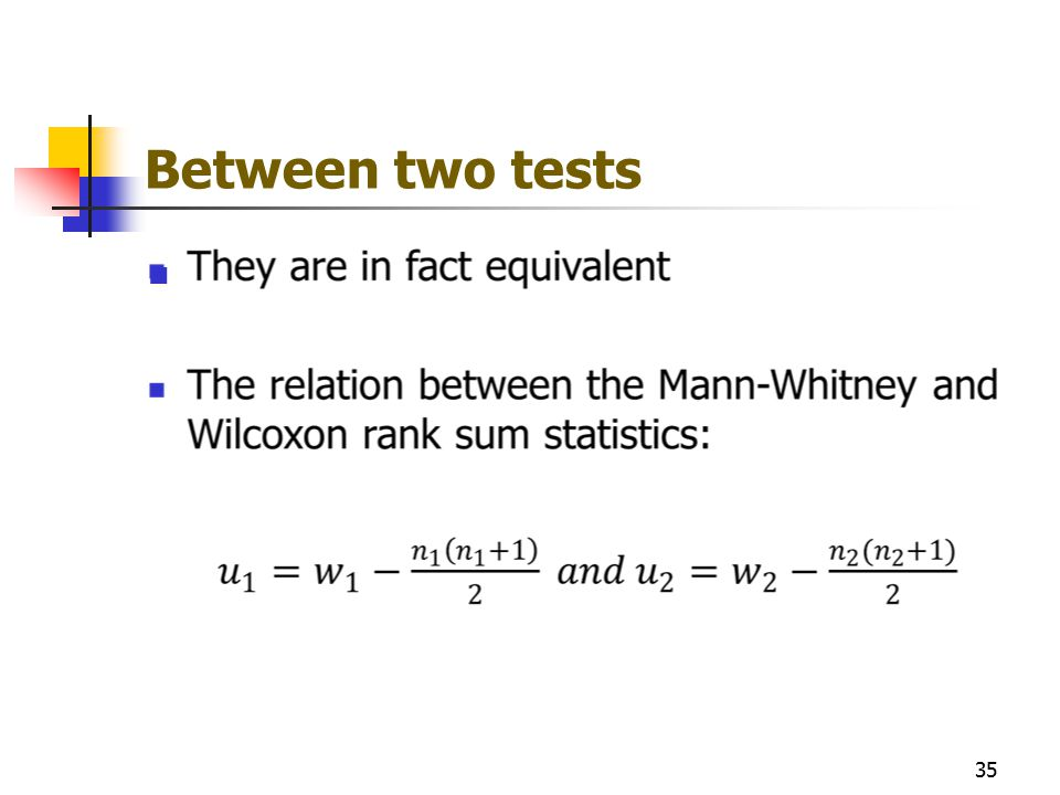 Between two tests 35