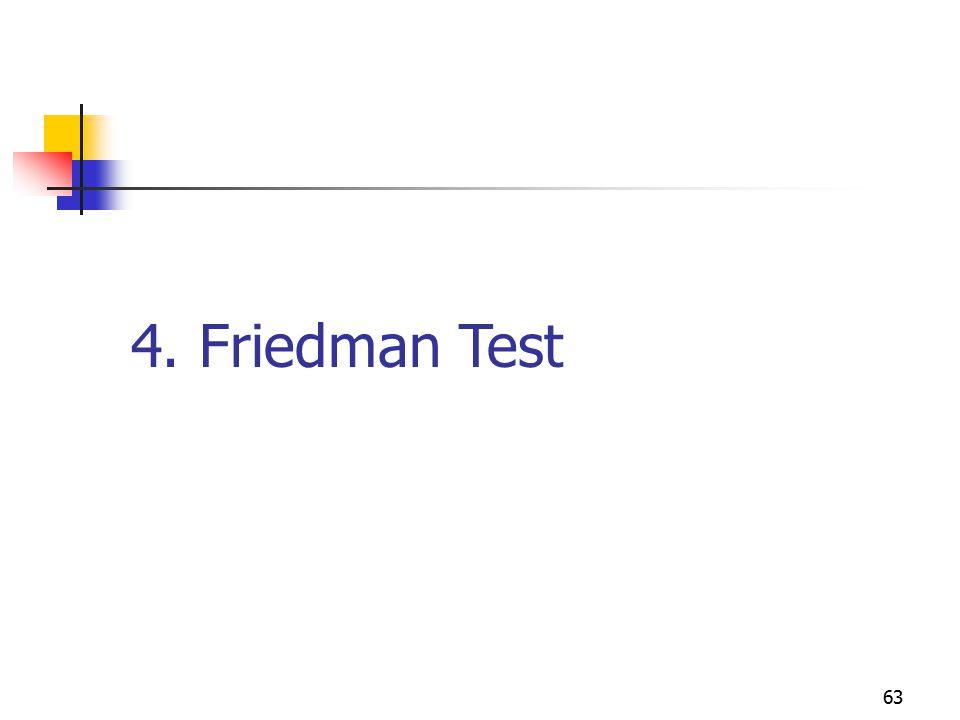 4. Friedman Test 63