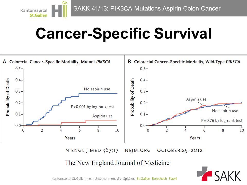 SAKK 41/13: PIK3CA-Mutations Aspirin Colon Cancer Güller/Horber Cancer-Specific Survival